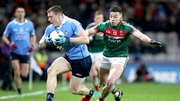 Dublin's John Small and Evan Regan of Mayo in action during last year's league meeting between the sides