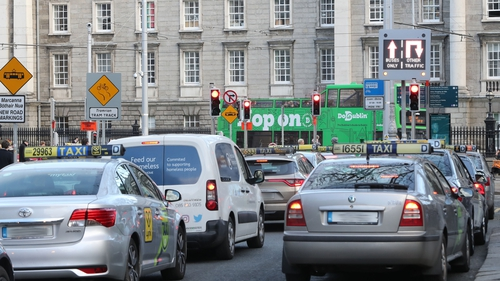 The ban on taxis driving southbound in front of TCD between 7am and 10am is due to start on 12 March