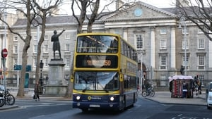 Dublin Bus has rerouted 30% of its routes away from College Green due to congestion caused by Luas Cross City