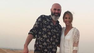 Joe Lindsay and Vogue Williams on a desert safari in Getaways