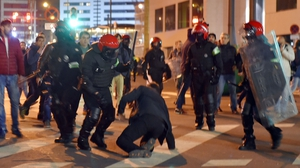 Police in Bilbao were involved in clashes