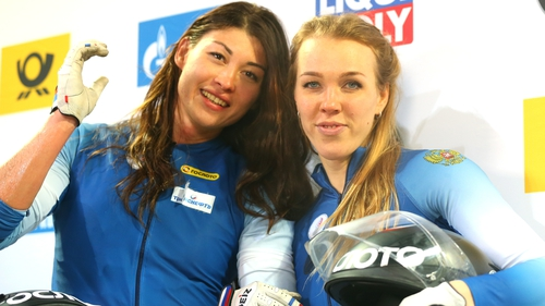 Nadezhda Sergeeva (right) has testing positive for a banned substance