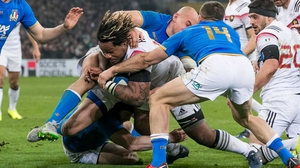 France's Mathieu Bastareaud scores their third try