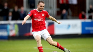 Conan Byrne was one of the goal-scorers for St Pat's.