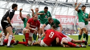 Ireland scored five tries in their victory over Wales