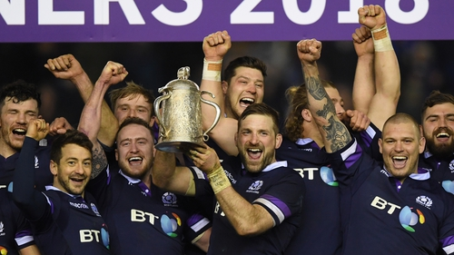 Scotland claimed the Calcutta Cup for the first time in a decade after victory over England