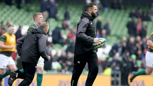 Andy Farrell has been with Ireland since January 2016