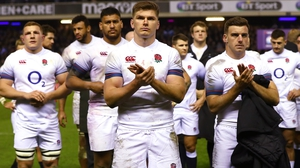 England applaud the Scots after their collision at Murrayfield