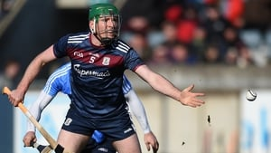 Shane Cooney makes a handpass during Galway's win over Dublin
