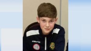 Aodhán Ó Conchúir sustained a head injury during a football match