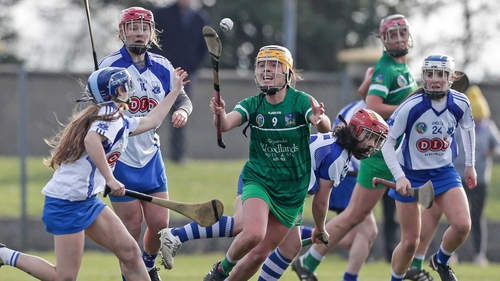 Limerick's Karen O'Leary and Annie Fitzgerald of Waterford