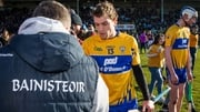 Davy Fitzgerald shakes hands with Shane O'Donnell after the game