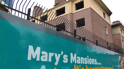 The major project at Mary's Mansions is already under way