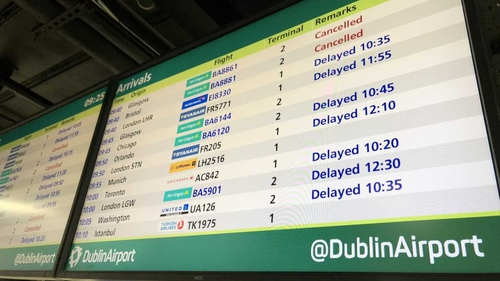 Passengers are advised to check the status of their flights before travelling to the airport