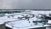 Dublin Airport was hit by heavy snow fall last month