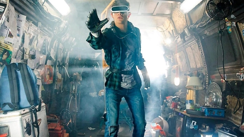 A scene from Steven Spielberg's forthcoming movie Ready Player One