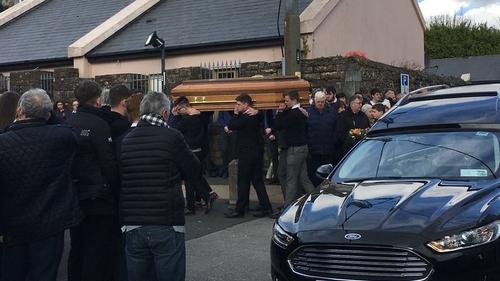 Aodhán Ó Conchúir was laid to rest in Milltown graveyard, overlooking Dingle Bay.
