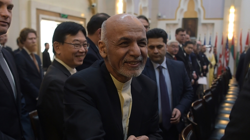 Ashraf Ghani proposed a ceasefire and a release of prisoners as part of a range of options