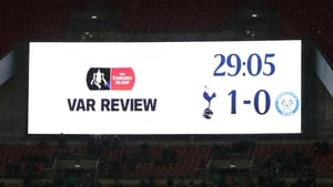 There were multiple delays during Spurs' win over Rochdale