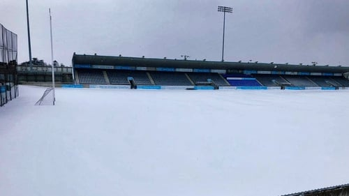 Parnell Park covered with a blanket of snow Picture: Dublin GAA Twitter