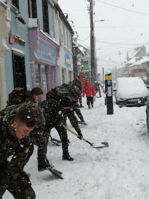 The Defence Forces tweeted this picture - 250 personnel and 85 vehicles were deployed in last 36 hours