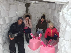 Serious brickwork in this family igloo by the Galligan family in Meath