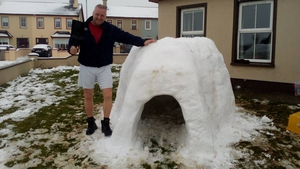 Mark McNamara in Lixnaw Co Kerry, had help from his children and grandchildren with this igloo