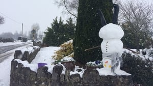 An upside down snowman in Cappagh, Co Limerick (Pic: Lisa Hennessy)