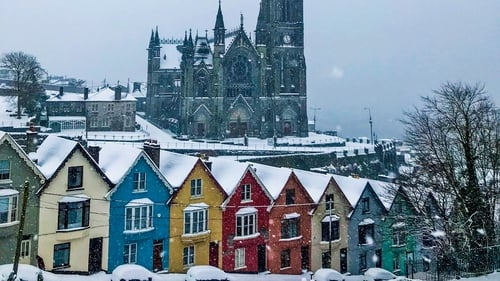A pop of colour in the snow - Cobh, Cork. By Kieron O'Connor