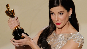 Sandra Bullock accepts the best actress Oscar for The Blind Side