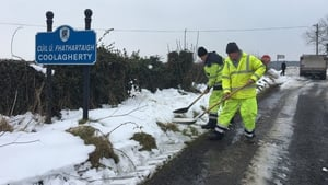 Cleanup operations are under way in Longford - people are advised to watch for accumulations of melt water which could lead to flooding