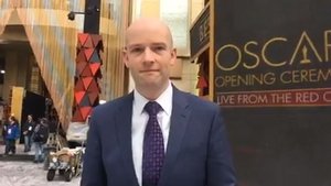 RTÉ News's Brian O'Donovan reporting live from the Oscars red carpet