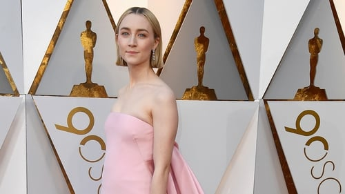 Saoirse Ronan at the 90th Academy Awards on Sunday night in Hollywood