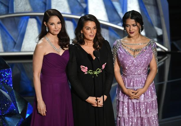 Ashley Judd, Annabella Sciorra and Salma Hayek