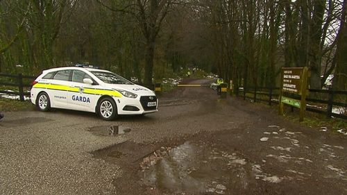 Gardaí have sealed off Mitchell's Wood outside Castlemartyr