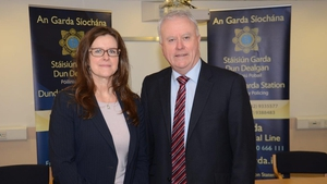 Alysia D Erichs and Acting Garda Commissioner Dónall Ó Cualáin