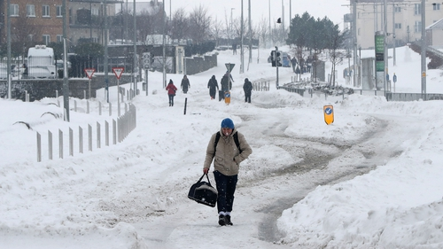 Bus and train services affected as snow hits the country