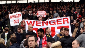 Arsenal fans appear to have turned against Arsene Wenger