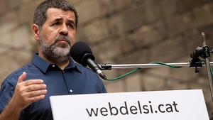 Jordi Sanchez of the Catalan National Assembly remains in jail awaiting trial on charges of rebellion and sedition