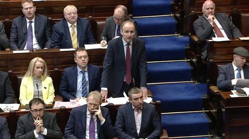 Fianna Fáil leader Micheál Martin addresses the Dáil