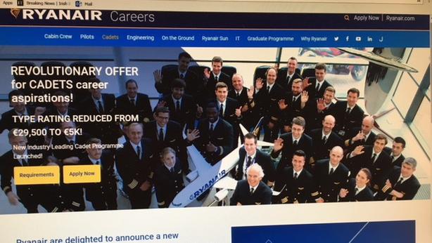 Training for Ryanair pilots will no longer cost €30k