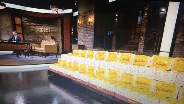 Use your loaf: Ryan Tubridy and a lot of sliced pans on The Late Late Show