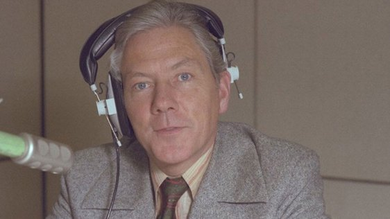 Gay Byrne in an RTÉ Radio studio, 1981