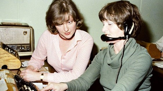 Marian Finucane in RTÉ Telephone Switchroom, 1979