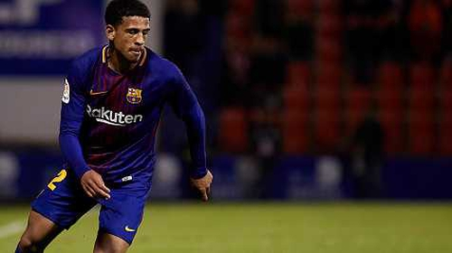 Englishman McGuane makes Barca debut in friendly