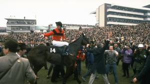 Jonjo O'Neill and Dawn Run take the plaudits after winning the 1986 Gold Cup
