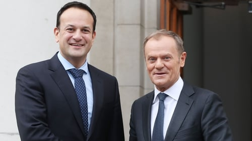 This is Donald Tusk's second visit to Ireland in three months