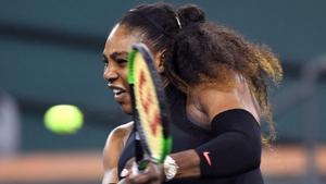 Williams defeated Zarina Diyas at the BNP Paribas Open.