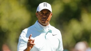 Tiger Woods is in a share for the lead after a three under par 68 in the second round of the Valspar Championship