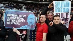 West Ham fans - not a happy bunch